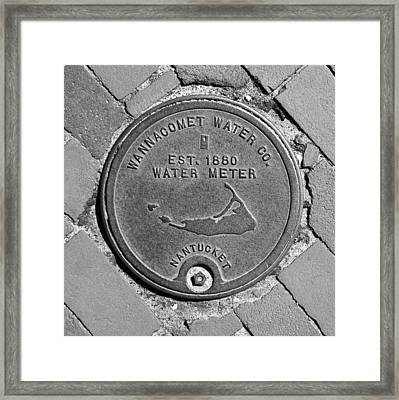 Nantucket Water Meter Cover Framed Print