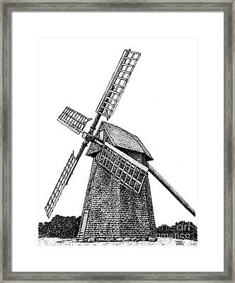 Nantucket Windmill Number One Framed Print