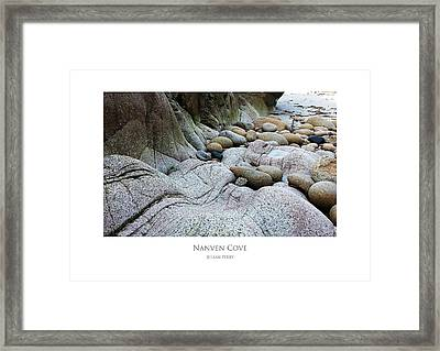 Framed Print featuring the digital art Nanven Cove by Julian Perry