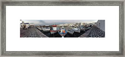 Naoussa Village Island Greece Framed Print by Colette V Hera  Guggenheim