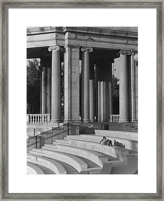 Nap In Civic Park Framed Print by Jim Furrer