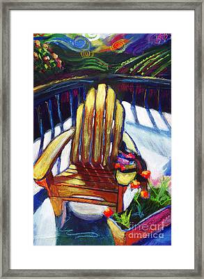 Napa California Deck Chair Framed Print