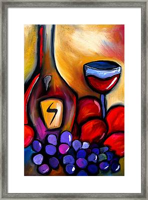 Napa Mix - Abstract Wine Art By Fidostudio Framed Print by Tom Fedro - Fidostudio