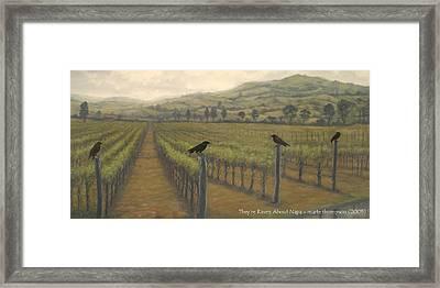 Napa Ravens Framed Print by Marte Thompson