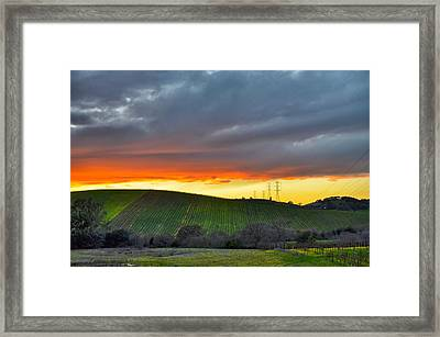 Napa Sunrise Framed Print