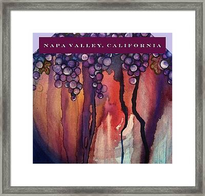 Napa Valley Framed Print