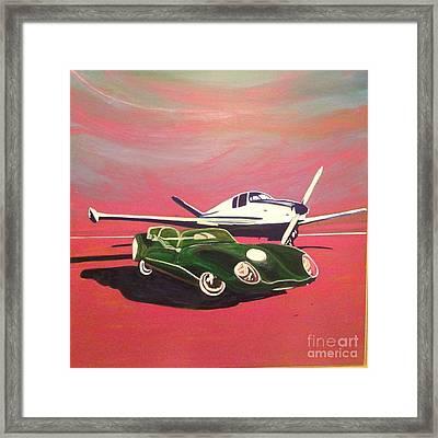 Napa Valley Lotus And Bonanza Beechcraft Framed Print by Rebecca Lou Mudd