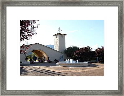 Napa Valley Winery . 7d9027 Framed Print by Wingsdomain Art and Photography