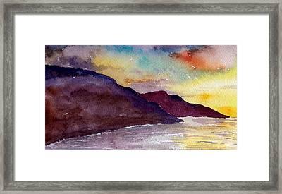 Napali Coast Kauai Hawaii Framed Print