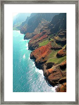 Napali Coast Of Kauai Framed Print by Frank Wilson