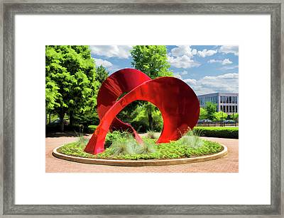 Framed Print featuring the painting Naperville Landforms Sculpture by Christopher Arndt