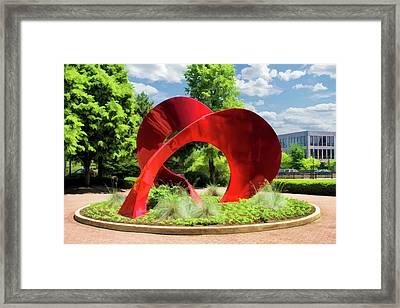 Naperville Landforms Sculpture Framed Print