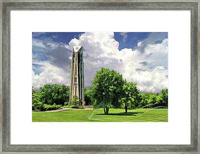 Framed Print featuring the painting Naperville Millennium Carillon by Christopher Arndt
