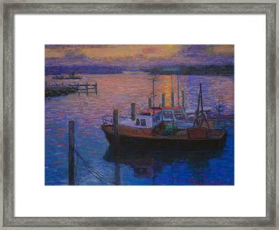 Napier Sunset Framed Print