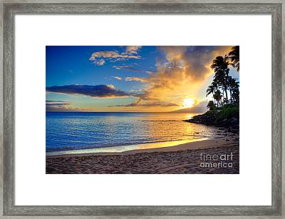 Napili Bay Maui Framed Print by Kelly Wade