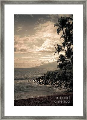 Framed Print featuring the photograph Napili Heaven by Kelly Wade