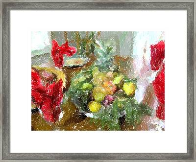 Napkin Dance Framed Print by Michael Morrison