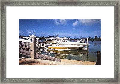 Naples Dock Framed Print
