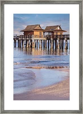 Naples Beach Pier Framed Print by Kim Hojnacki