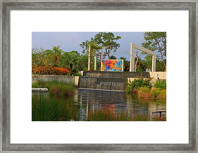 Naples Botanical Garden Framed Print