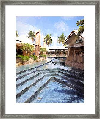 Naples Falls Shopping  Framed Print