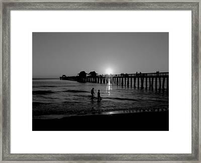 Naples Florida Pier Sunset Framed Print