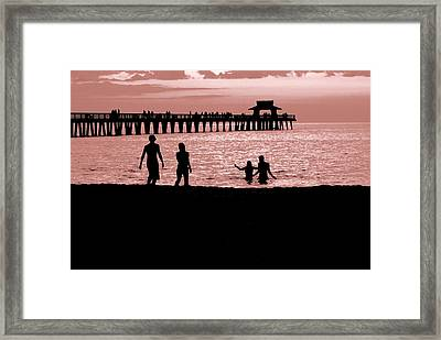 Naples Florida Sunset Framed Print