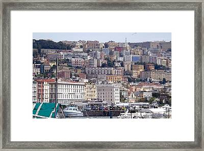 Naples In The Spring Framed Print