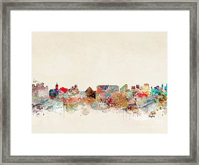 Framed Print featuring the painting Naples Italy by Bri B