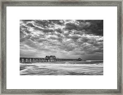 Framed Print featuring the photograph Naples Monochrome by Mike Lang