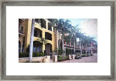 Naples On The Waterfront Framed Print