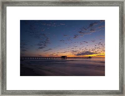 Naples Pier Magic Hour Framed Print by Nick  Shirghio