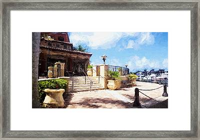 Naples Scenic Places Framed Print