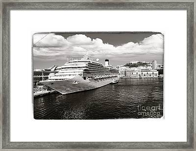 Naples Vintage Old Card Framed Print