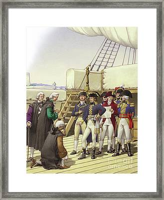Napoleon Accepts The Surrender Of Malta Framed Print by Pat Nicolle