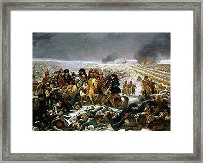 Framed Print featuring the painting Napoleon At Eylau  by Antoine Jean Gros