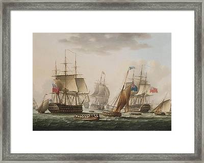 Napoleon Being Transferred From H M S Bellerophon Framed Print by MotionAge Designs