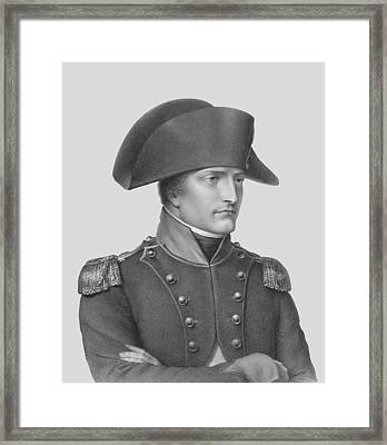 Napoleon Bonaparte In Uniform  Framed Print by War Is Hell Store
