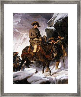 Napoleon Crossing The Alps Framed Print by Hippolyte Delaroche