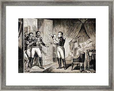 Napoleon I Presenting Newborn Son, 1811 Framed Print by Wellcome Images