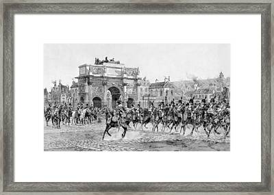 Napoleon I Reviewing His Troops  Framed Print by War Is Hell Store