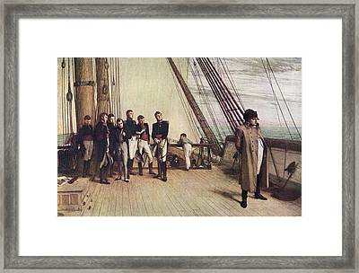 Napoleon On The Bellerophon. Painting Framed Print