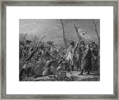 Napoleon Returns From Elba Framed Print