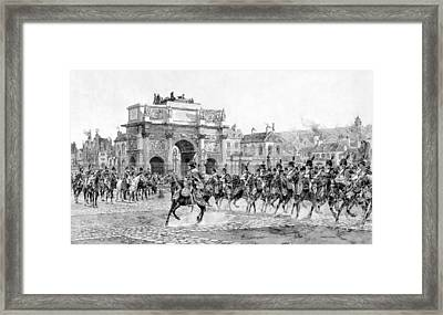 Napoleon Reviewing His Troops Framed Print
