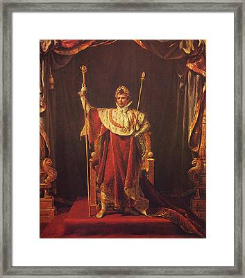 Napoleon Framed Print by War Is Hell Store