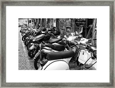 Napoli Scooter Choices Framed Print