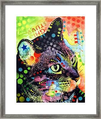 Nappy Cat Framed Print