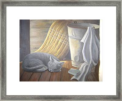 Naptime Framed Print by Judy Keefer