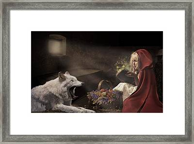Framed Print featuring the digital art Naptime Story by Nicole Wilde