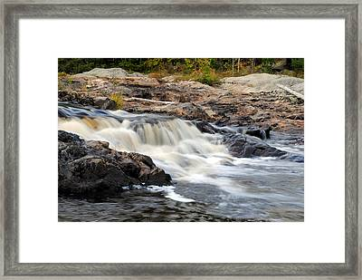 Naraguagus River Framed Print by Steven Scott